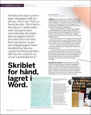 Skriblet for hånd, lagret i Word.   Aftenposten Innsikt