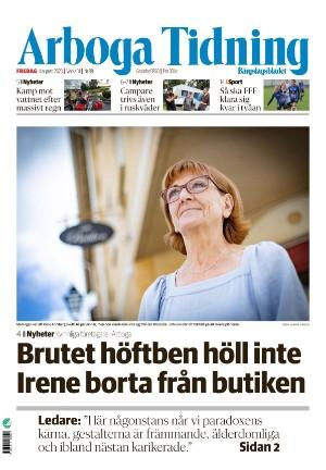 Förstasida Arboga Tidning