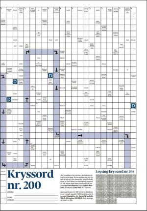 Seilbåt Kryssord