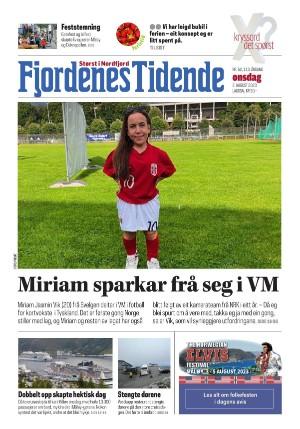 Forside Fjordenes Tidende