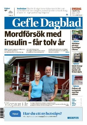 Förstasida Gefle Dagblad