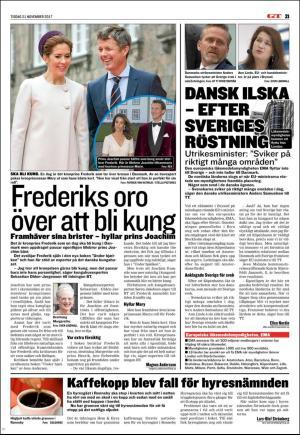 Dansk oro for sveriges