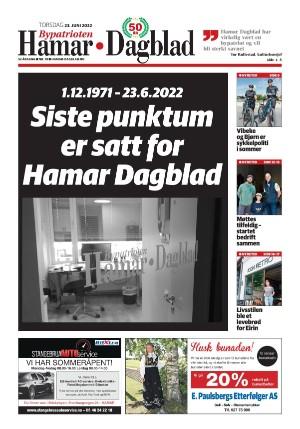 Forside Hamar Dagblad