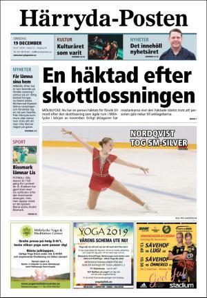 Förstasida Härryda-Posten
