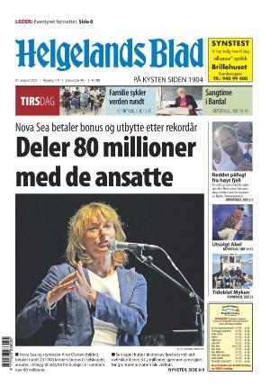Forside Helgelands Blad