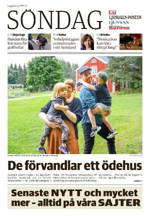 Förstasida Hudiksvalls Tidning