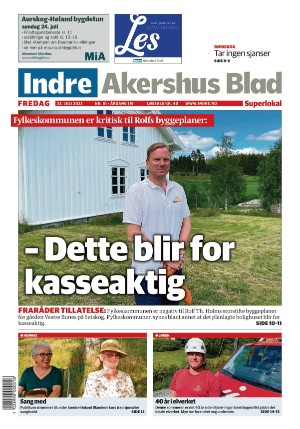 Forside Indre Akershus Blad