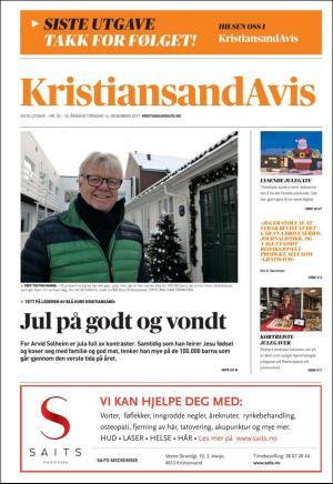 Forside Kristiansand Avis