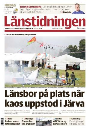 Förstasida Länstidningen Östersund