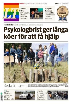 Förstasida Länstidningen Södertälje