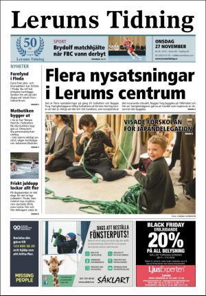 Förstasida Lerums Tidning