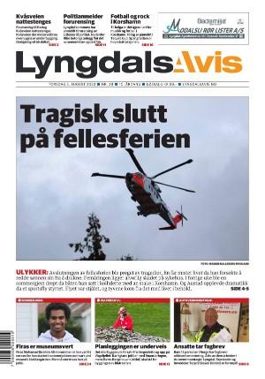 Forside Lyngdals Avis