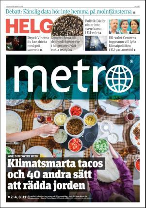 Förstasida Metro Skåne