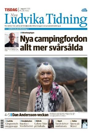 Förstasida Nya Ludvika Tidning