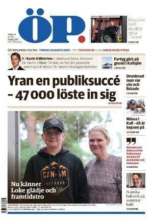 Förstasida Östersunds-Posten
