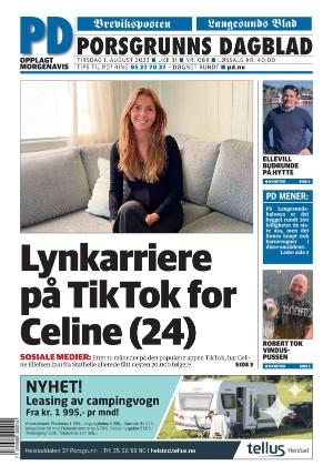 Forside Porsgrunns Dagblad