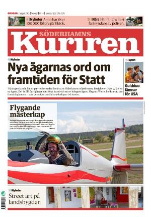 Förstasida Söderhamns-Kuriren
