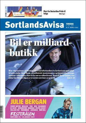 Forside SortlandsAvisa