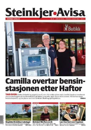 Dagens avisforside Steinkjer-Avisa