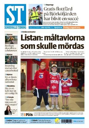 Förstasida Sundsvalls Tidning