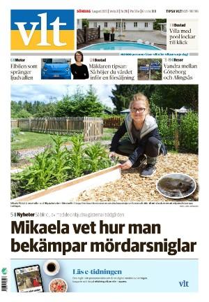 Förstasida Vestmanlands Läns Tidning