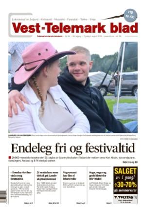 Forside Vest-Telemark Blad
